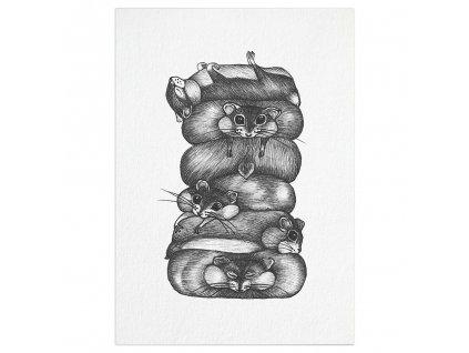 pohlednice ligarti hromada krecku