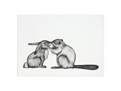 pohlednice ligarti kralik a bobr