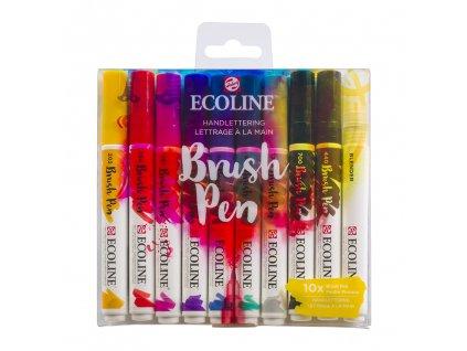 akvarelove stetcove fixy ecoline brush pen handlettering sada 10ks 1