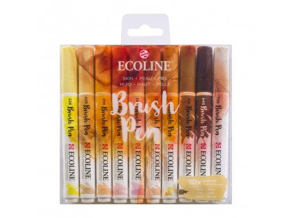 akvarelove stetcove fixy ecoline brush pen skin sada 10ks 1