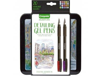 fixy crayola signature detailing gel pens sada 20ks 1