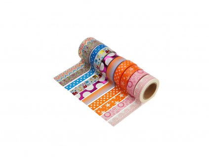 Sada 10 washi pásek - Různé motivy 2