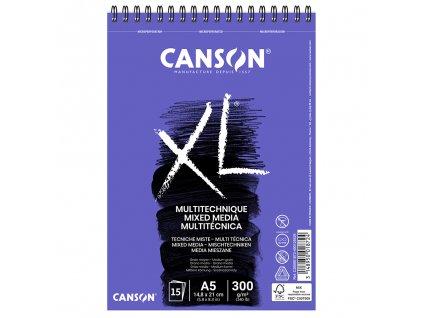 skicak canson xl mix media 300g m2 15 archu a5