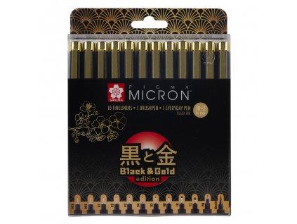 sakura pigma micron black gold sada 12ks