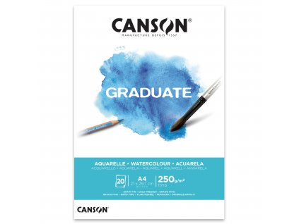 skicak canson graduate aquarelle 250g m2 20 archu a4