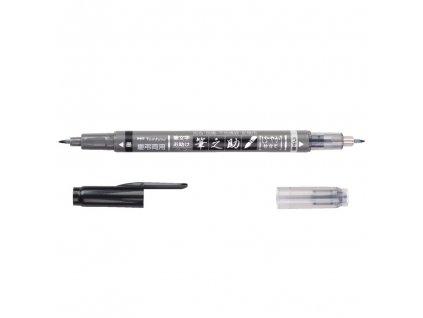 tombow fudenosuke oboustranny brush pen mekky hrot 1