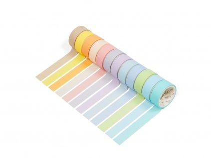 5011 2 sada 12 washi pasek pastel s