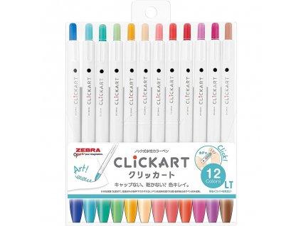 popisovace zebra clickart light colors sada 12ks