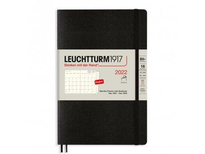 16 mesicni diar 2022 teckovany zapisnik leuchtturm1917 b6 softcover black