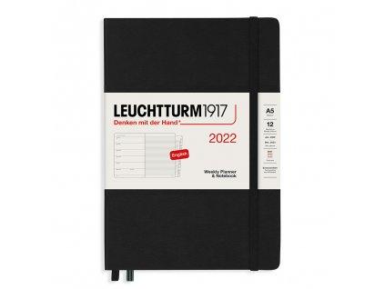 tydenni diar 2022 zapisnik leuchtturm1917 medium a5 black