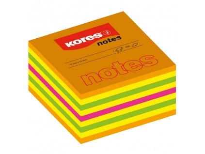 samolepici neonove blocky kores cubo summer 75mm x 75mm