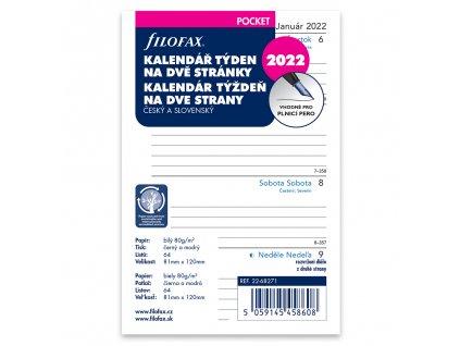 tydenni kalendar 2022 napln do kapesnich a7 diaru filofax 1