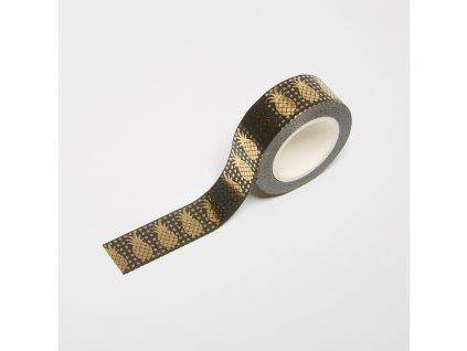 Washi páska - Ananasy (zlatá fólie)
