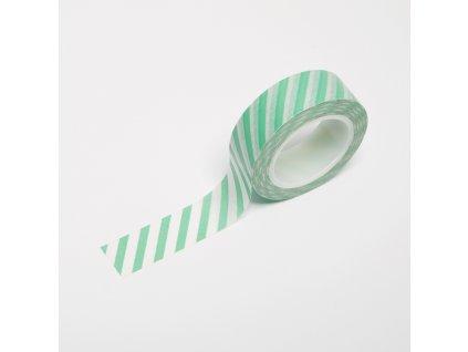 Washi páska - Mint proužky