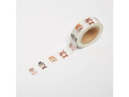 Washi páska - Kočičí rodina