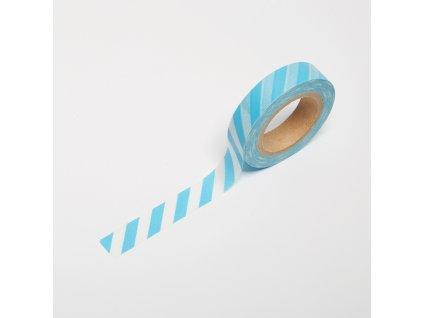 Washi páska - Modré proužky