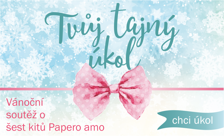 Tajný úkol Papero amo Vánoční soutěž 2018