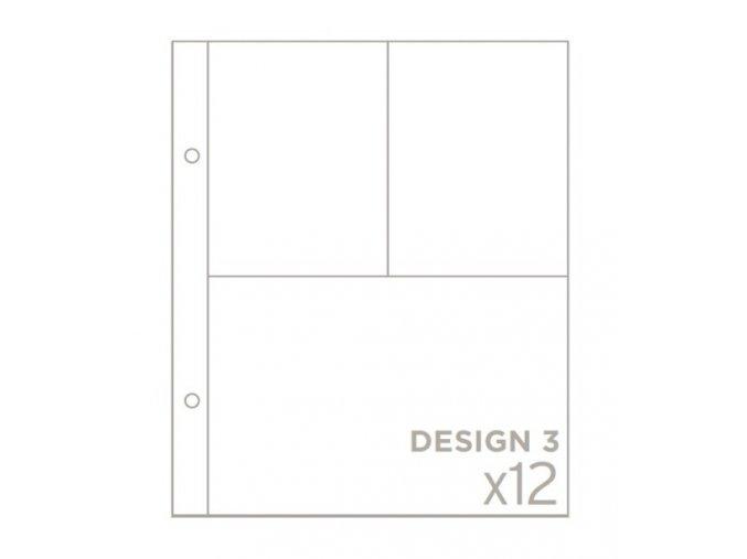 """BECKY HIGGINS - náhradní kapsy do alba 6""""X8"""" - DESIGN 3"""