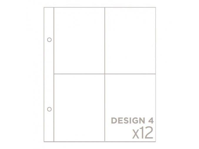 """BECKY HIGGINS - náhradní kapsy do alba 6""""X8"""" - DESIGN 4"""