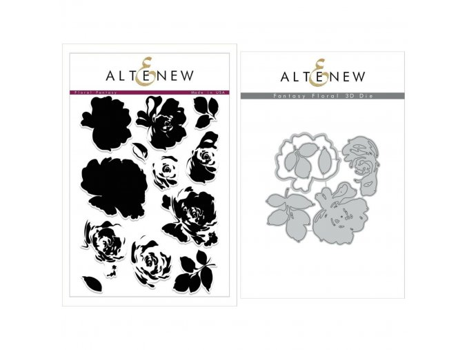 ALTENEW - Floral Fantasy Stamp & Die Bundle II. / 3D