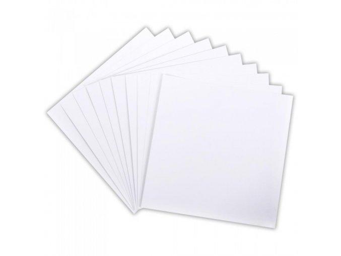 AMERICAN CRAFTS - Smooth Cardstock - hladká bílá čtvrtka WHITE