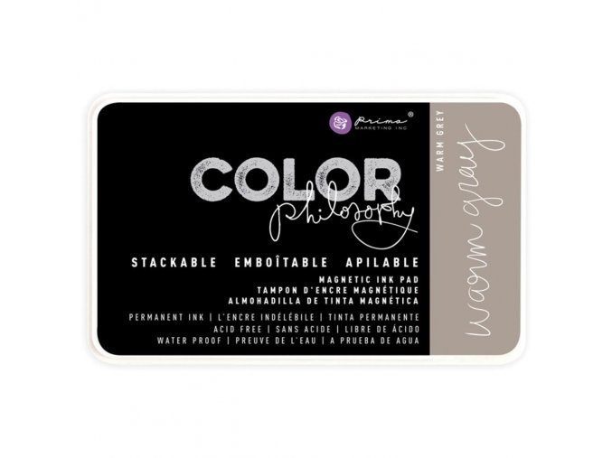 PRIMA MARKETING - Prima Color Philosophy Permanent Ink Pad - WARM GRAY