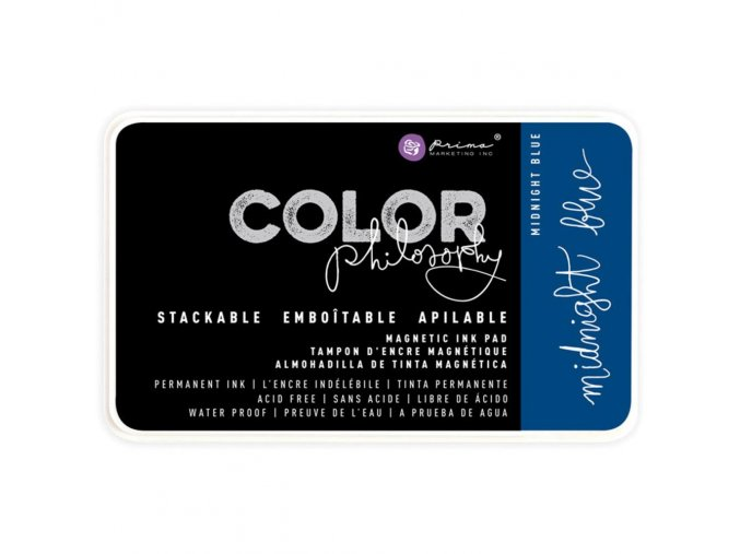 PRIMA MARKETING - Prima Color Philosophy Permanent Ink Pad - MIDNIGHT BLUE