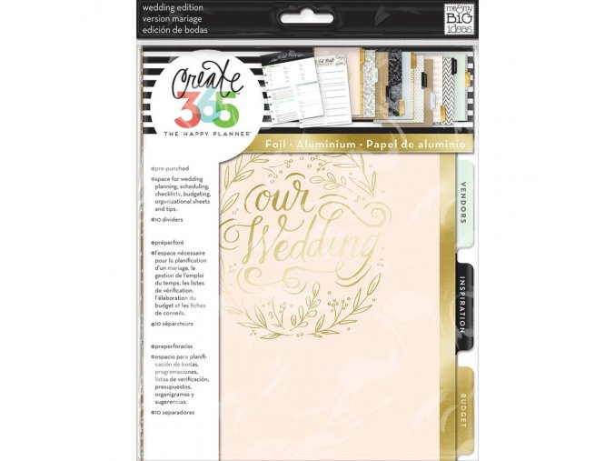 ME & MY BIG IDEAS - Happy Planner Extension Pack MEDIUM - SVATEBNÍ PLÁNOVAČ WEDDING