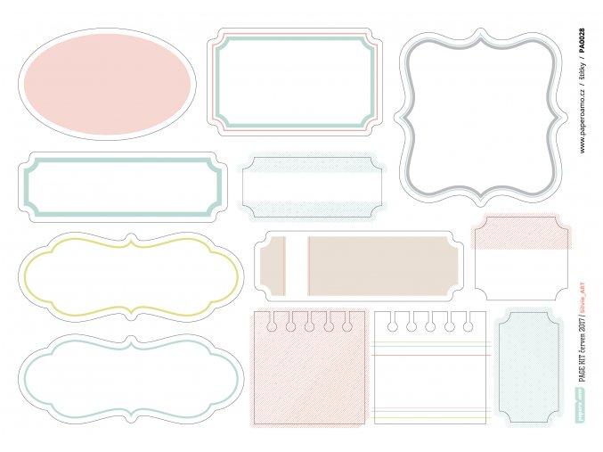 Papírové výseky - GEOMETRIE / Štítky
