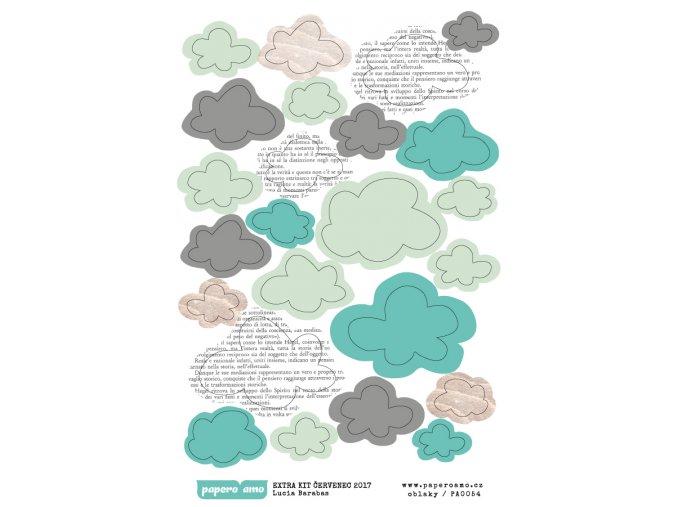 Samolepky - BAREVNÉ LÉTO / Oblaka