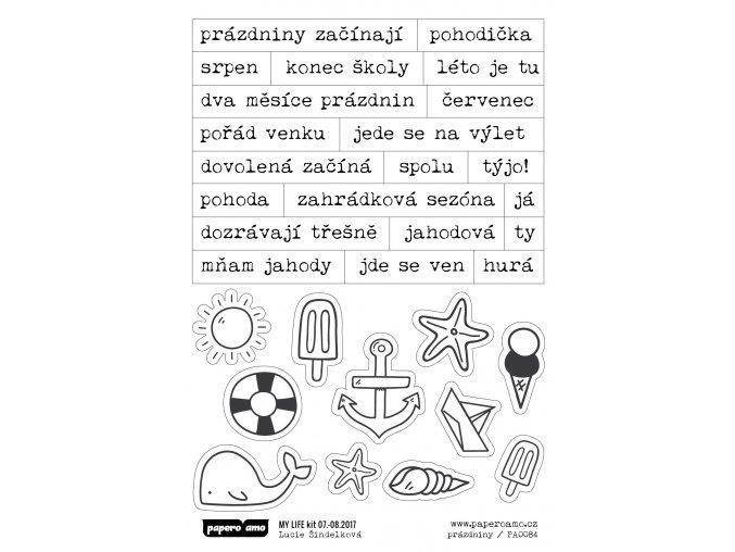 Samolepky - PRÁZDNINY U MOŘE / Začínají