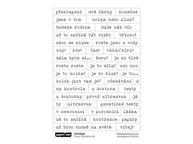 PAPERO AMO - samolepky - TĚHOTENSKÁ / překvapení