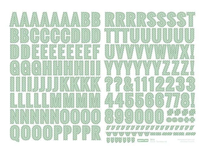 PAPERO AMO - samolepící abeceda - ŠKOLA / zelená