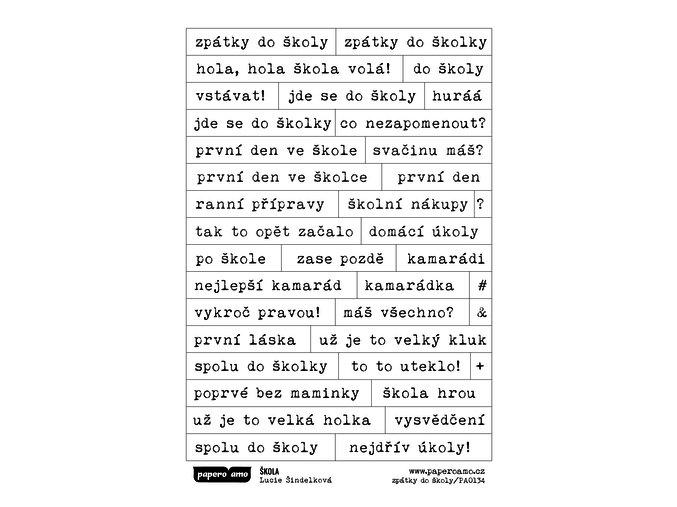 Samolepky - ŠKOLA / Zpátky do školy