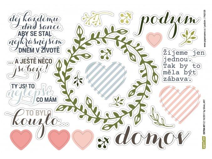 Papírové výseky - PODZIMNÍ ROMANTIKA / Domov