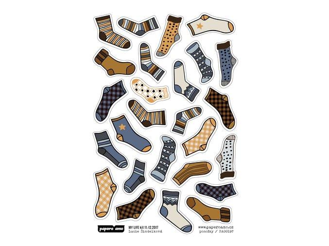 Samolepky - TEPLO DOMOVA / Ponožky