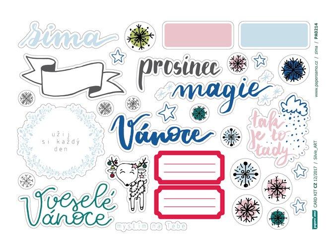 Papírové výseky - PROSINCOVÁ MAGIE
