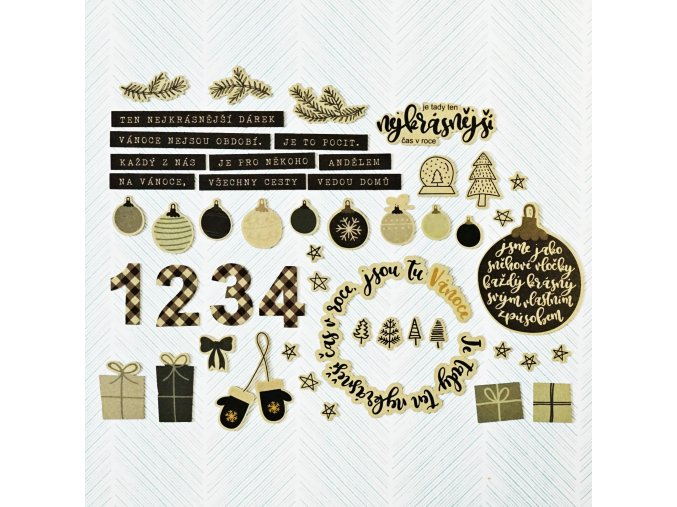 Zlaté výseky - VÁNOCE / nejkrásnější dárek
