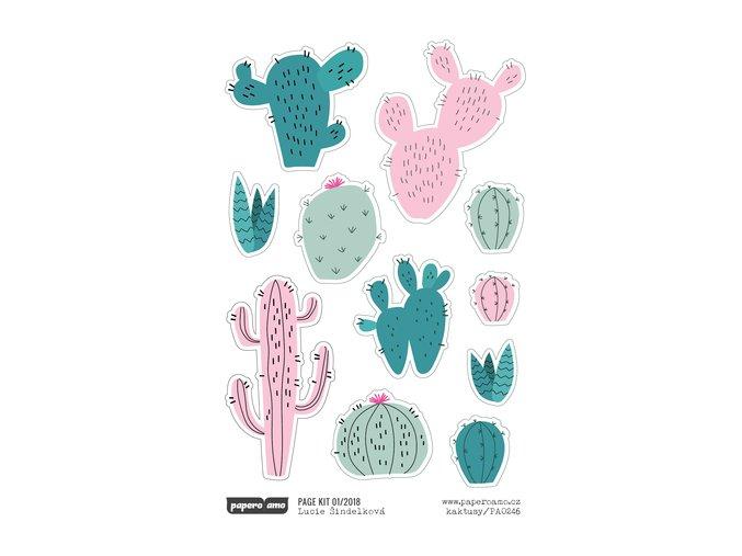 Samolepky - 365 DNÍ / Kaktusy