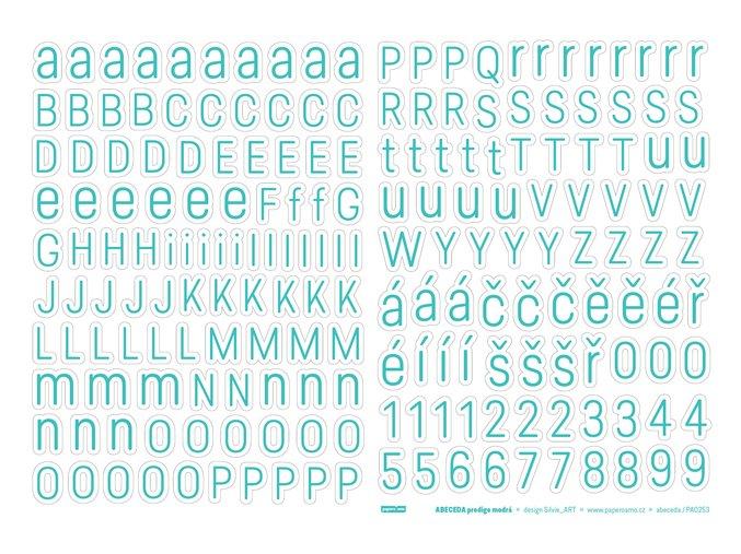 PAPERO AMO - samolepící abeceda - Predige MODRÁ