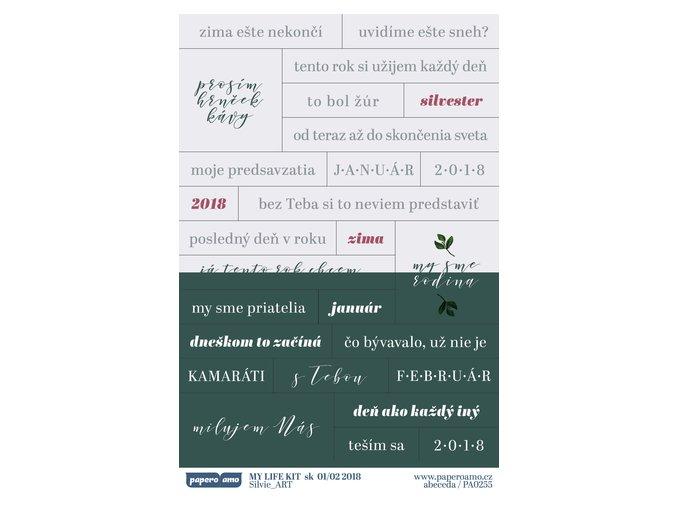 PAPERO AMO - samolepky - MY LIFE KIT / január - Február 2018 ZIMA EŠTE NEKONČÍ