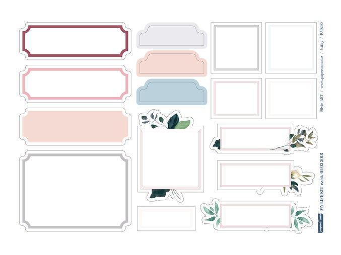Papírové výseky - ZIMA JEŠTĚ NEKONČÍ / Štítky