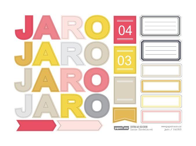 PAPERO AMO - papírové výseky - EXTRA KIT Březen 2018 / JARO