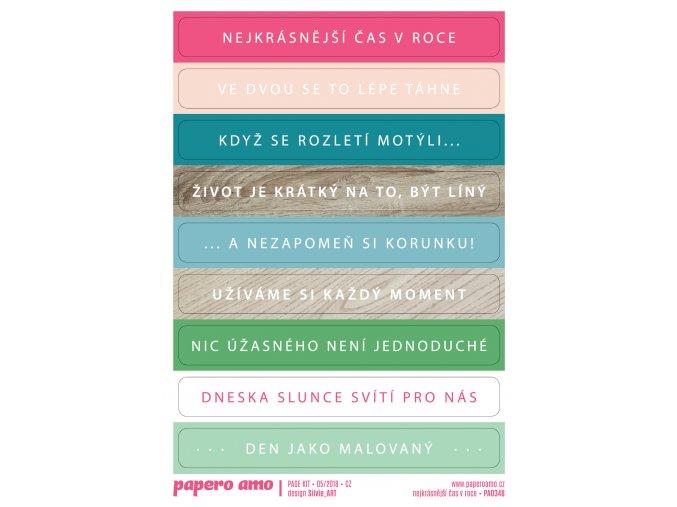 PAPERO AMO - samolepky - PAGE KIT Květen 2018 / NEJKRÁSNĚJŠÍ ČAS V ROCE