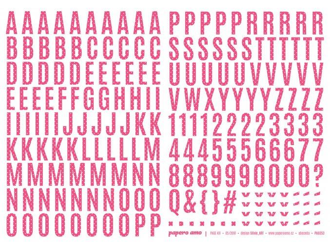 Samolepící abeceda VELKÁ - MAGIE / Růžová