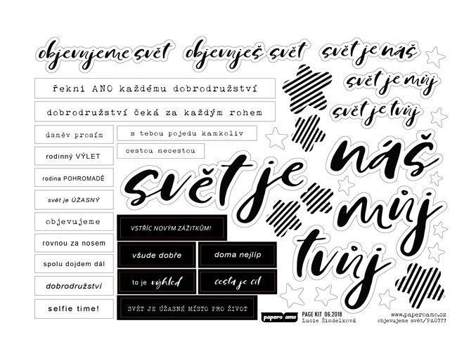 Papírové výseky - NA CESTĚ / Objevujeme svět