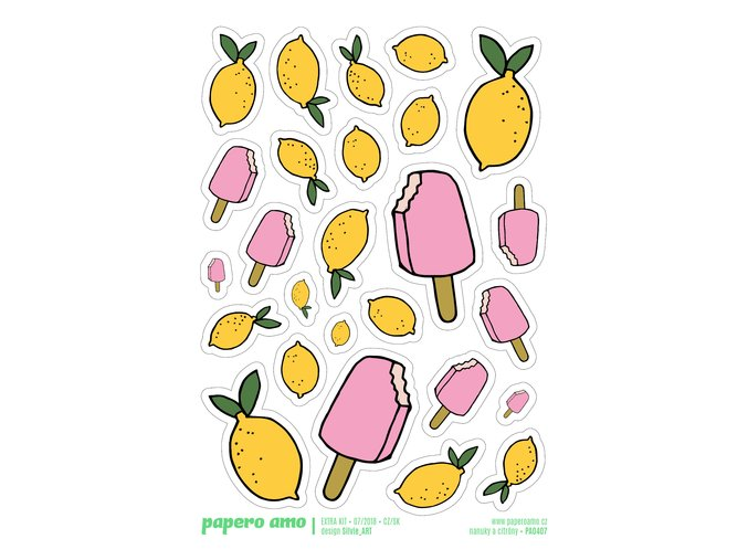 Samolepky - ŽIVOT JE HRA / Nanuky a citróny