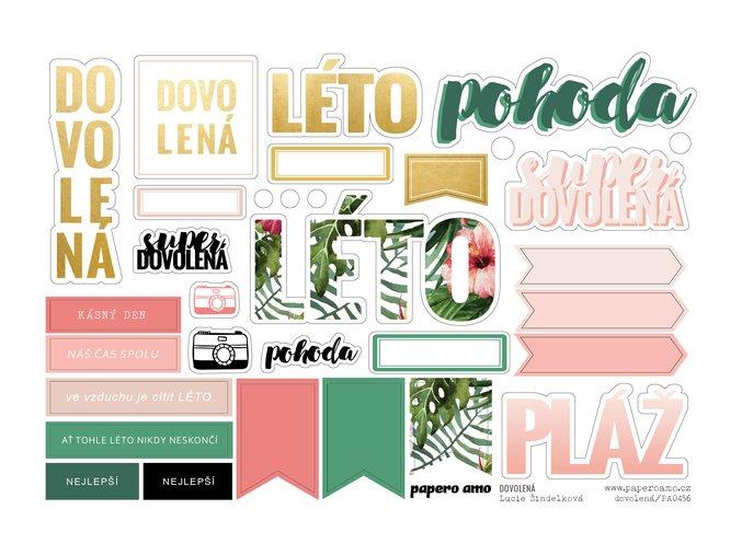 PAPERO AMO - papírové výseky - DOVOLENÁ