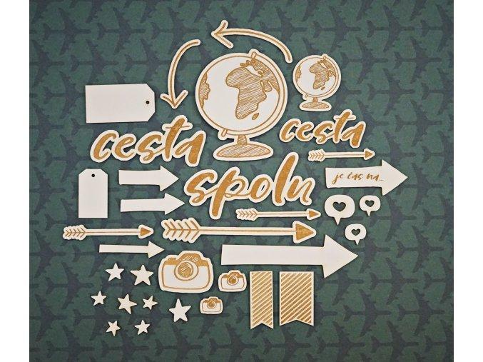 Chipboardové výseky - CESTA