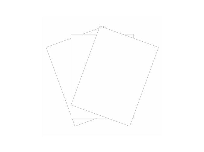 PAPERO AMO - kartičky malé - BÍLÁ #01